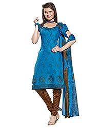 fabgruh Sky Blue colour dress material