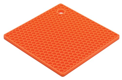 HIC Brands that Cook The Essentials Cantaloupe Honeycomb Silicone Trivet, 7-Inch
