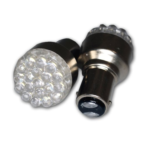 Tuningpros Ledpl-1157-A19 Parking Light Led Light Bulbs 1157, 19 Led Amber 2-Pc Set