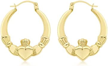 Carissima 9ct Yellow Gold Claddagh Earrings