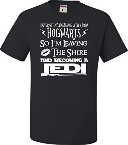 Medium Black Adult I Never Got My Acceptance Letter From Hogwarts Funny T-Shirt