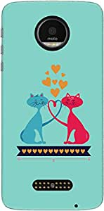 The Racoon Lean Catty Love hard plastic printed back case/cover for Motorola Moto Z