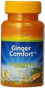 Thompson Ginger Comfort Veg Capsules, 30 Count (Pack of 2)