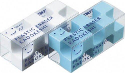 KOKUYO ケシ-U750-1 消しゴム[カドケシプチ]鉛筆用ブルー・ホワイト2色セット