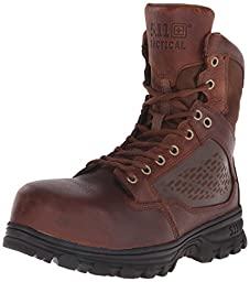 5.11 Men\'s Evo 6 Inch Safety Toe Tactical Boot, Bison, 10.5 D(M) US