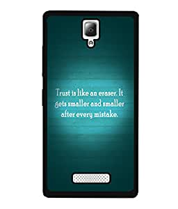 Fuson 2D Printed Quotes Designer back case cover for Lenovo A2010 - D4555