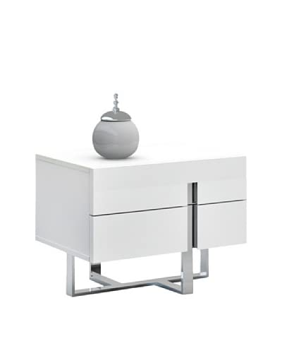 Casabianca Furniture Collins Nightstand, White