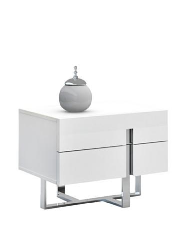 Casabianca Furniture Collins Nightstand, White