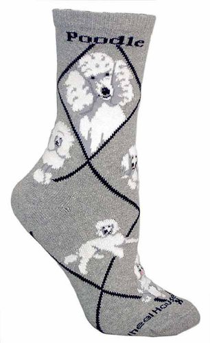 PoodleSocksLightweight Cotton Crew SocksOne Size Fits Most