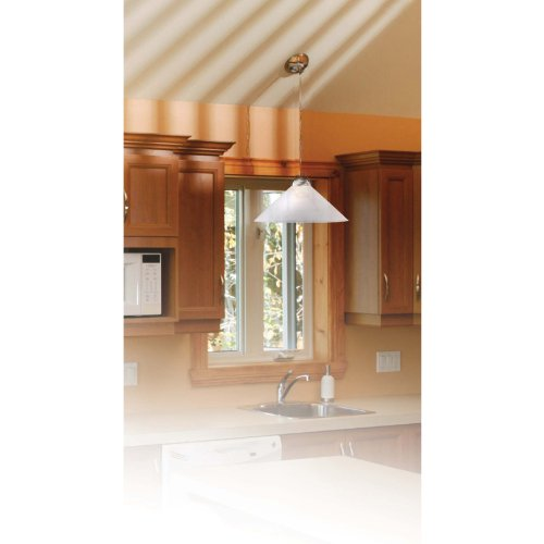 Kenroy Home 11630BS Madison 18-Inch Pendant, Brushed Steel