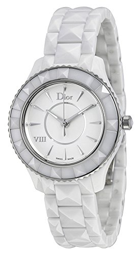 Christian Dior Dior VIII White Ceramic & Stainless Steel Womens Luxury Watch Quartz CD1231E2C001