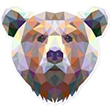 Bear Modern Art Design Vinyl Sticker - Car Phone Helmet - SELECT SIZE
