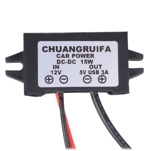 Nextrox® Dc/Dc 12V To 5V 3A Car Led Display Voltage Step Down Regulater Power Supply Converter With Mini Connector