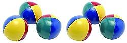SAHNI SPORTS Non-Woven-Fabric Juggling Ball, Set of 6, Multi-Color