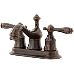 Pegasus 67102-8096H Estates 4-Inch 2-Handle Low Arc Bathroom Faucet in Heritage Bronze