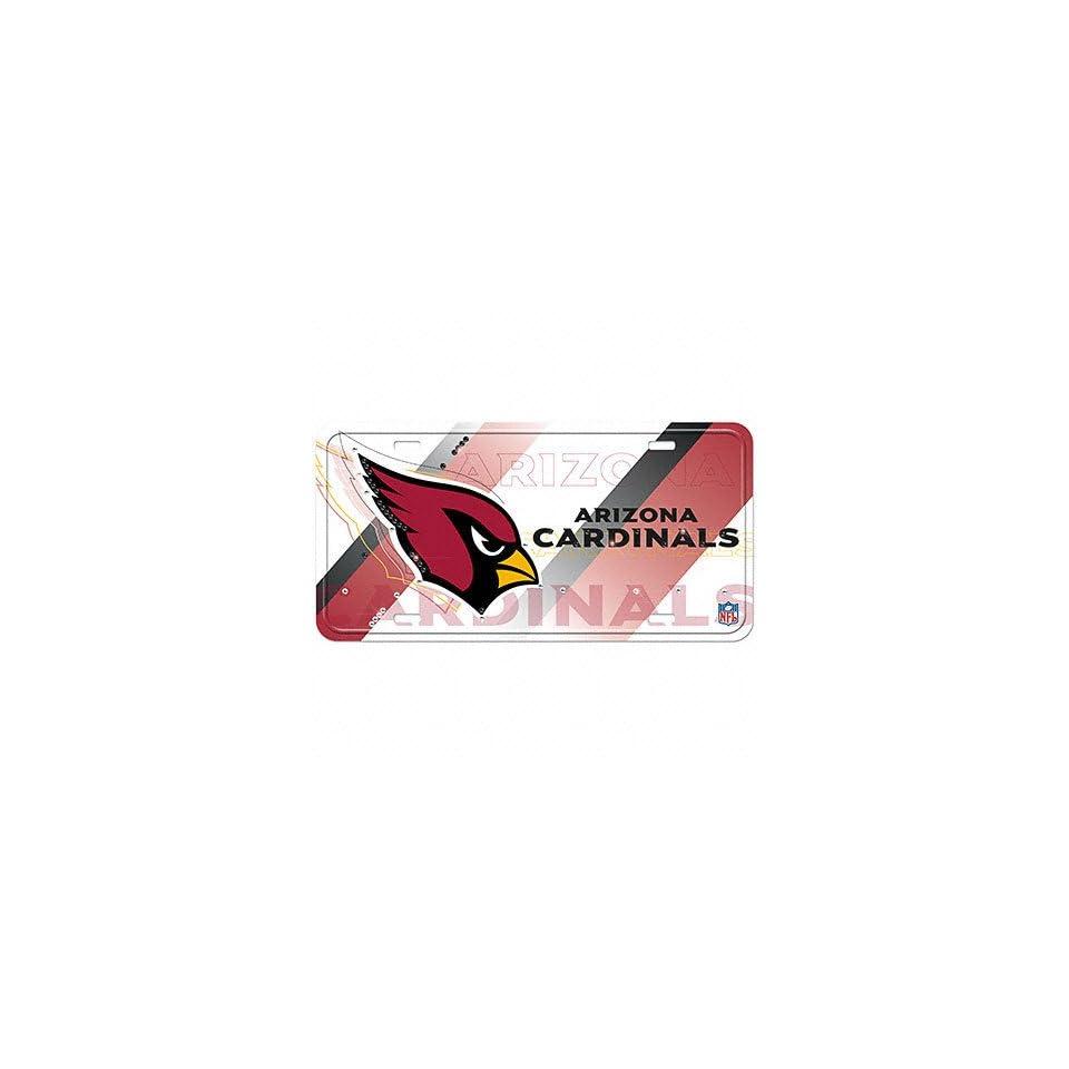 Arizona Cardinals License Plate Aluminum Street Flair License Plate