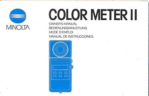 Minolta Color Meter II Original Owner's Manual (Minolta Color Meter compare prices)