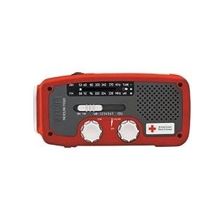 Etón American Red Cross ARCFR160R Microlink Self-Powered AM/FM/NOAA Weather Radio with Flashlight, <a href=