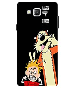 EU4IA Calvin And Hobbes Pattern MATTE FINISH 3D Back Cover Case For SAMSUNG G...