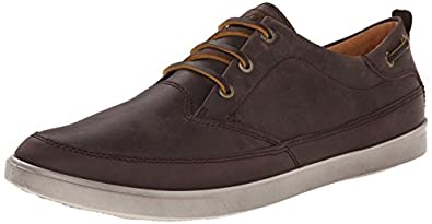 ECCO Men's Collin Nautical Sneaker Oxford, Mocha/Cocoa Brown, 39 EU/5-5.5 M US