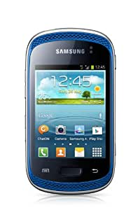 Samsung Galaxy Music S6010 Smartphone (7,6 cm (3 Zoll) Touchscreen, ARM Cortex-A9, 850MHz, 512MB RAM, 3 Megapixel Kamera, Android 4.0) blau