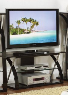 TV STAND IN BLACK BY POUNDEX