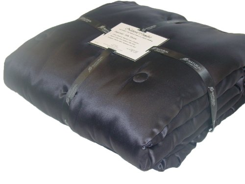 Imperial Silk Inside And Out Throw-Filling, Black front-1050941
