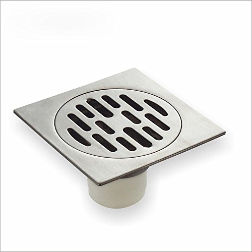 CU En acier inoxydable à haute teneur et siphons de sol résistant aux odeurs déodorant de salle de bain anti siphon de sol carré mince de l'eau