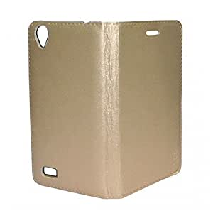 Smartlike Leather Flip Cover For Micromax Yu Yunicorn Gold