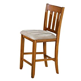 Aaron 30 Inch Barstool in Rustic Oak Finish (Pack of 2) By Berkline Family Dining