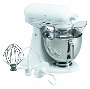 Kitchenaid Ksm100psww Ultra Power Plus 4 1 2 Quart Stand Mixer With Pouring Shield