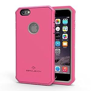 "iPhone 6S Plus Rugged Case, ZeroLemon Protector Series Rugged Case + PET Screen Protector for iPhone 6/6s Plus 5.5 ""(Fits All Versions of iPhone 6/6s Plus)[180 days ZeroLemon Warranty Guarantee] - Gery/Pink"