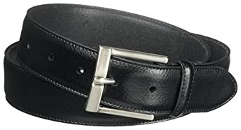 "Lee Men's 1 3/8"" Pebble Grain Leather Belt,Black,32"
