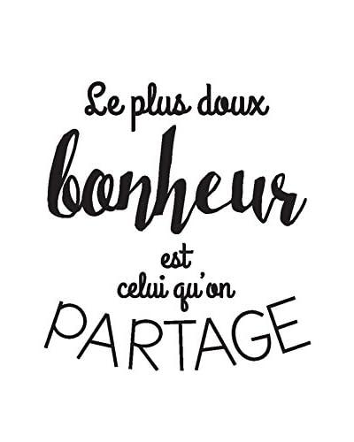 ZZ-Ambiance-sticker Vinilo Decorativo Quote Le Plus Doux Bonheur Est Celui Qu'On Partage