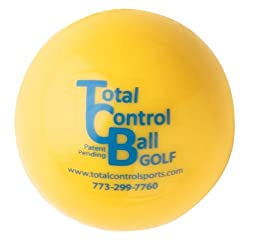 Total Control Sports Golf Ball with Red Dot (Pack of 6), Yellow
