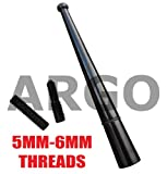 BLACK MINI ALLOY BEE STING AERIAL ANTENNA MAST RADIO AM FM TOYOTA MR2 ROADSTER CONVERTIBLE