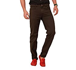 Carrie Men's Regular Fit Jeans (CJ_B236_Brown_46)