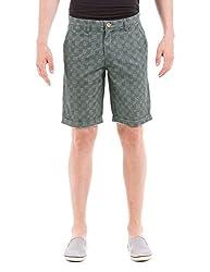 Shuffle Men's Cotton Shorts  (8907423090217_2021612889_30_Blue)