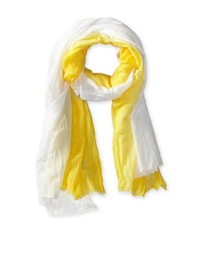Tolani Women's Ombre Scarf, Yellow/White