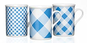 Ritzenhoff & Breker 098747 Kaffeebecher-Set Mix-It, 3-teilig, blau