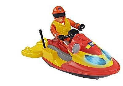 Simba 109251662 - Feuerwehrmann Sam Juno Jet Ski mit Figur
