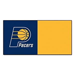 FANMATS NBA Indiana Pacers Nylon Face Team Carpet Tiles by Fanmats