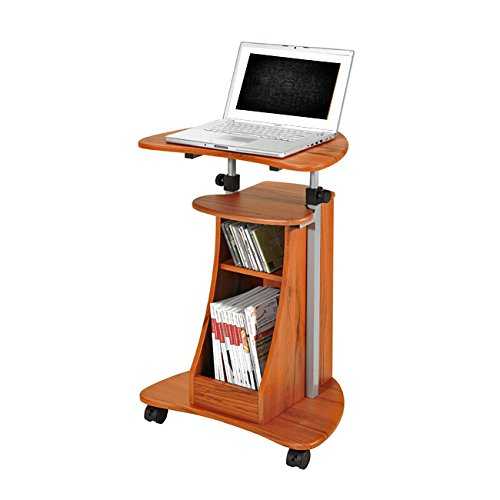 Mobile Height Adjustable puter Desk Caddy Cart