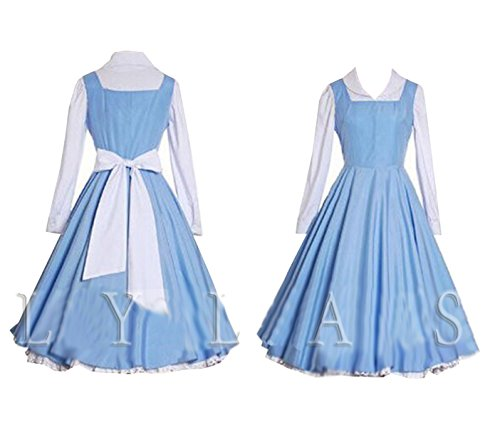 Halloween 2017 Disney Costumes Plus Size & Standard Women's Costume Characters - Women's Costume CharactersCosplay Costume Blue Belle Village Dress