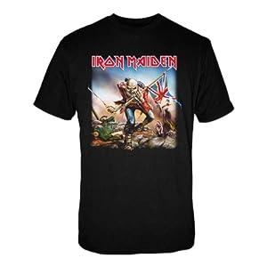 "T-Shirt Homme Noir Iron Maiden ""Trooper"" (Taille M)"