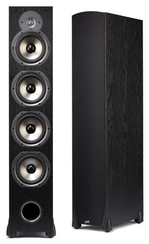 Best Price! Polk Audio Monitor 75T Four-Way Ported Floorstanding Speaker (Single, Black)
