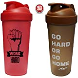 NAUGHTY BEAR RED & BROWN GYM SHAKER SIPPER BOTTLE 600 ML (COMBO OFFER) ( SET OF 2)