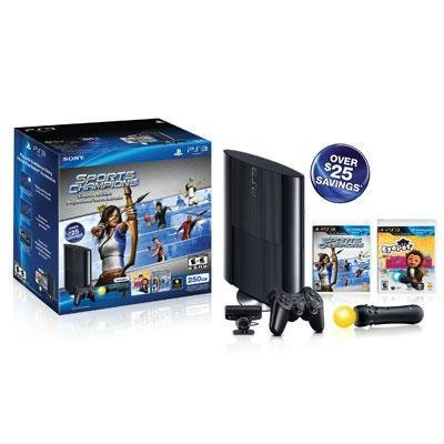 Sony Playstation 3 250GB Sports Champion & EyePet Move Bundle