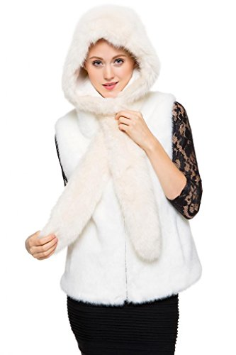 adelaqueen-womens-ivory-faux-fox-fur-hat-with-scarf-winter-snow-hood