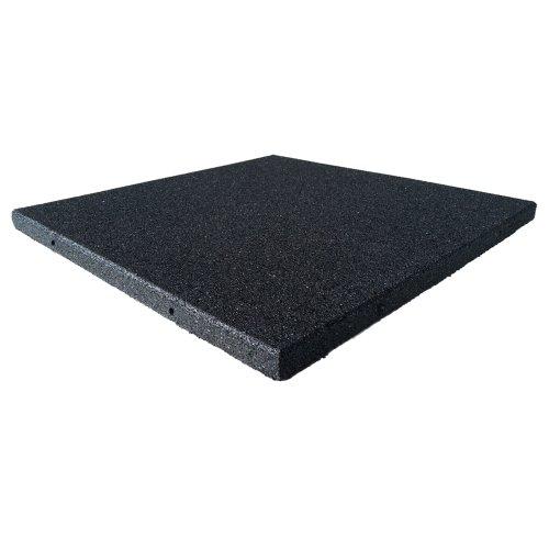 Rubber Cal Eco-Sport Floor Tile-Pack Of 3, Coal, 1 X 20 X 20-Inch